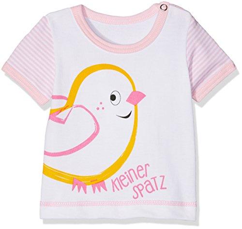Adelheid Baby-Mädchen T-Shirt Kleiner Spatz Bio Leibchen k. A. Albglück, Weiß (Blütenweiss 100), 86 (Herstellergröße:86/92) (Glücks Bio-baumwoll-t-shirt)