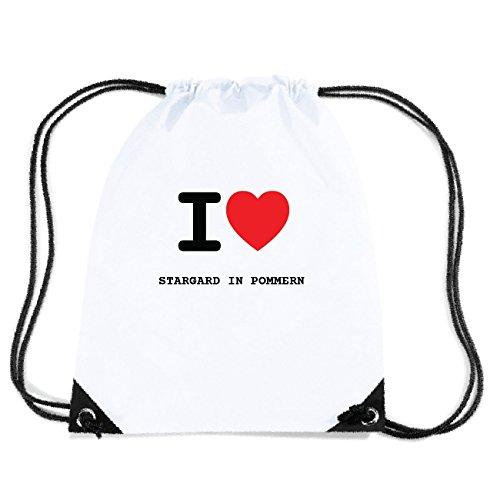 JOllify STARGARD IN POMMERN Turnbeutel Tasche GYM3785 - Design: I Love - Ich Liebe -