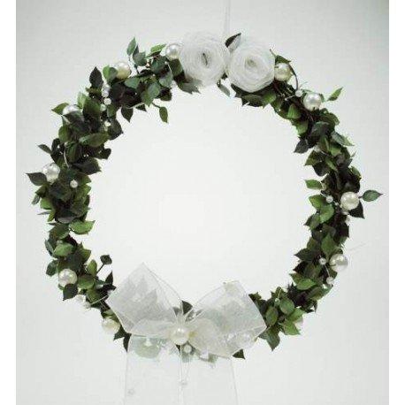Buchsbaumkranz Türkranz Fensterkranz für die Festliche Dekoration von Hochzeit Kommunion Firmung Taufe oder andere Besondere Anlässe