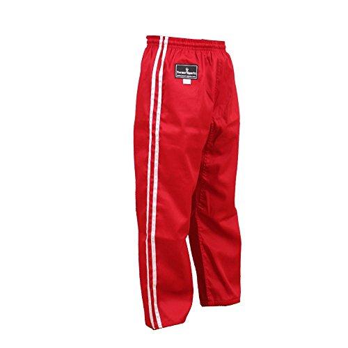 TurnerMAX Karate Hose Rot mit weißen Streifen