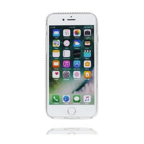 "iPhone 6 Coque Case , Glitter Bling Sparkles Flowing Liquid Anti Scratch Hard Protective Étui iPhone 6S / 6 Cover 4.7"" - Licorne cheval unicorn Rainbow # 4"