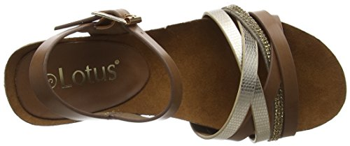 Lotus Pika, Sandales Bride Arriere Femme Brown (Tan/Gold)
