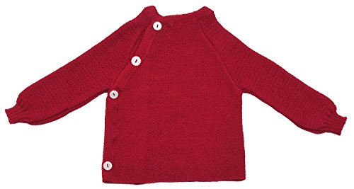 Burgund Strickjacke (Reiff Reläx 10180 - Schlüttli Uni Bio-Baumwolle (kbA) burgund, Size / Größe:86/92)