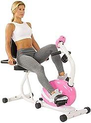 Sunny Health & Fitness Unisex Adult P8400 Magnetic Recumbent Bike - Pink, One