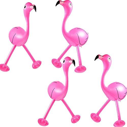 Sealen flamingo rosa gonfiabile, 18in giocattoli gonfiabili della novità della piscina gonfiabile favori di partito, accessori del partito di luau per la decorazione hawaiana del partito 4 pacchi