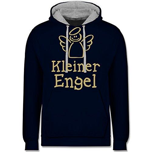 Typisch Frauen - Kleiner Engel - Kontrast Hoodie Dunkelblau/Grau meliert