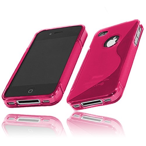 Coque Semi-Rigide Ultra-Slim APPLE IPHONE 4 [La Sport Case Premium] [Vert] de MUZZANO + STYLET et CHIFFON MUZZANO® OFFERTS - La Protection Antichoc ULTIME, ELEGANTE ET DURABLE pour votre APPLE IPHONE  Rose + 3 Films de Protection Ecran