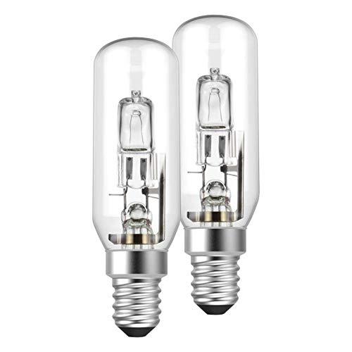 2 x Müller-Licht Halogen Leuchtmittel Röhre T25 30W = 37W E14 405lm warmweiß 2900K 2000h dimmbar