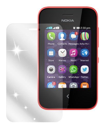 dipos I 2X Schutzfolie klar passend für Nokia Asha 230 Folie Bildschirmschutzfolie