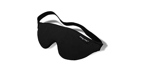 Masque pour les yeux de luxe en daim Masque de nuit Stellar Deluxe de Sleepstar Mince /& L/éger Certified Oeko-Tex Standard 100 Cavit/és internes pour les yeux Masque de sommeil