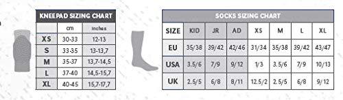 ERREÀ Volleyball & Turnen · ATENA Knieschoner · UNIVERSAL Knieschutz für Jungen & Mädchen · ONESIZE Schoner für Kinder & Jugendliche Größe XS, Farbe schwarz-weiß