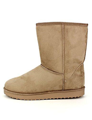 Cendriyon Boots Beige Fourrées UTAG Chaussures Femme
