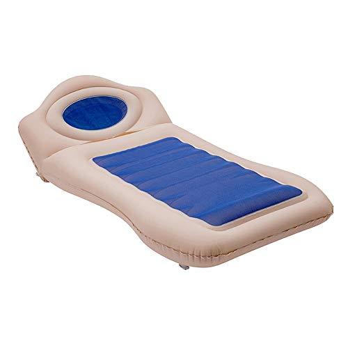 Air bed Auto/Luftbett Queen, Hintere Reihe Schlafkissen Auto/Luftbett, Multifunktionale Atmungsaktive/Luftmatratze Queen, Tragende 200 Kg Blau Rosa Gelb (Color : Blue)