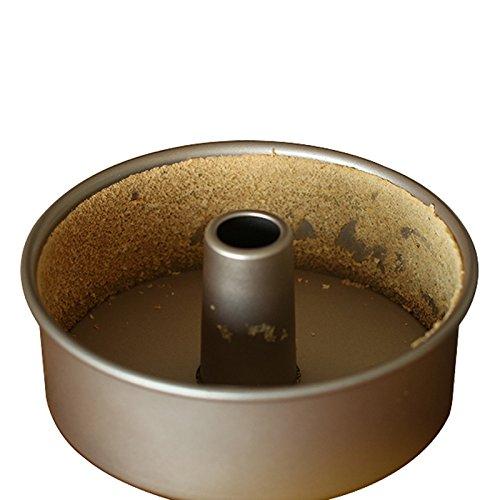 Pie Quiche backen Pfannen Zinn Teller Fach, Edelstahl Nonstick Golden Kuchenform Backform Unterwerkzeug Schornstein, 6 Zoll (Durchmesser 17 cm), Höhe 7 cm). (6-zoll-schornstein)