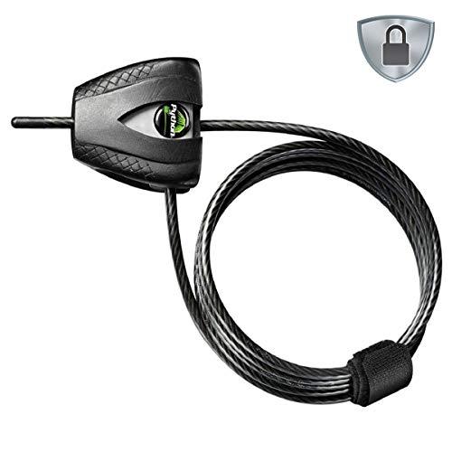 Master Lock 8417DPRO - Candado antirrobo de cable 1,80 m x 5 mm