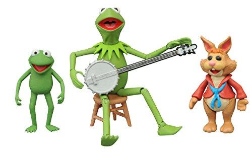 Muppets The sep158427diseño de la rana Gustavo/Robin y Bean conejo figura de acción (Multi-pack)