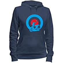 Speed Shirt Sudadera con Capucha para Las Mujeras Azul Navy OLDENG00344 Mods Vespa