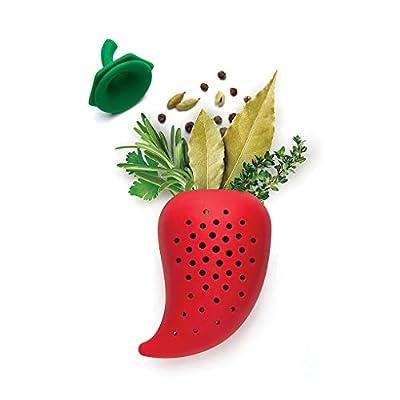 Lorsoul Pepper en Forme de Filtre à épices en Silicone réutilisable aromatisantes Sac Simmer ragoût Soupe d'assaisonnement aux Herbes Packets Kitchen Spice Infuseur