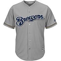 Majestic Milwaukee Brewers Cool Base MLB Trikot Jersey Road Grau