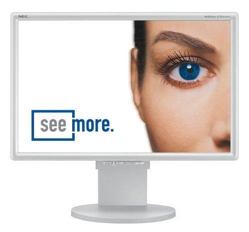 NEC 2470 WVX 61 cm (24 Zoll) TFT-Monitor D-sub- DVI-D (Kontrast: 10000:1, 6ms Reaktionszeit) Silber Nec Multisync Flat-panel-display