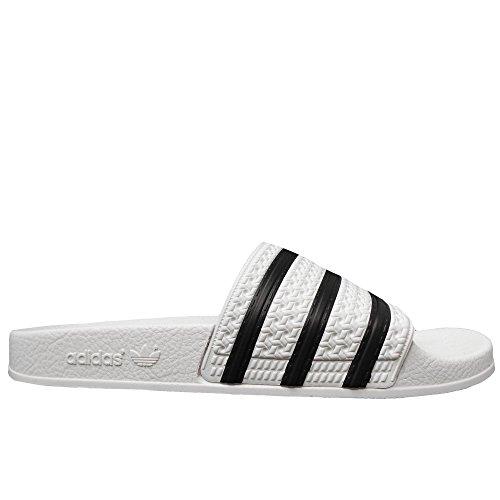 Adidas adilette, scarpe da fitness uomo, bianco (blanco/negbás 000), 39 eu