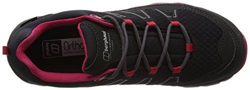 Berghaus Explorer Active Gtx Tech Shoes, Scarpe da Arrampicata Donna Multicolore (Black/cerise An8)