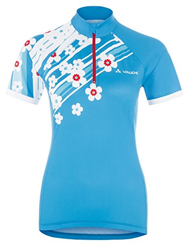 VAUDE 03881 maillot pour femme women's florica tricot Turquoise - Teal Blue/Red