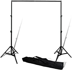 SHOPEE BRANDED Photography Backdrop Stand Kit Background Support System Kit Portable AND foldable With Bag