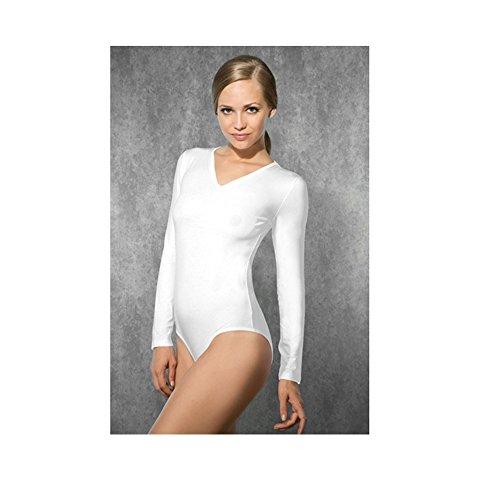Preisvergleich Produktbild Doreanse Damen Langarm-Body weiß Größe L