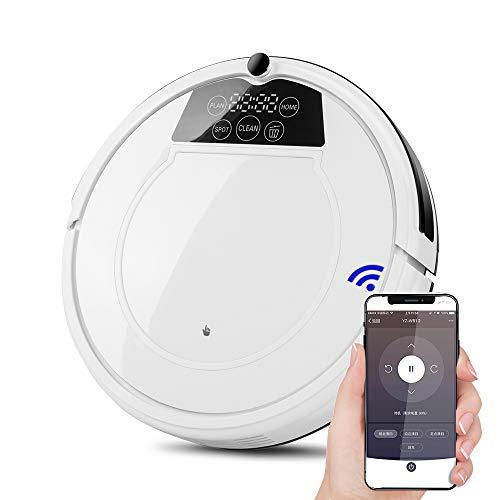 Heomeby Roboter-Staubsauger zum Reinigen von Fußböden, Teppichen, Marmor, Fliesen usw, automatische Aufladung, WiFi-Verbindung für Mobiltelefone, geräuscharm