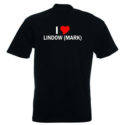 T-Shirt mit Städtenamen - i Love Lindow (Mark) - Herren - unisex Schwarz