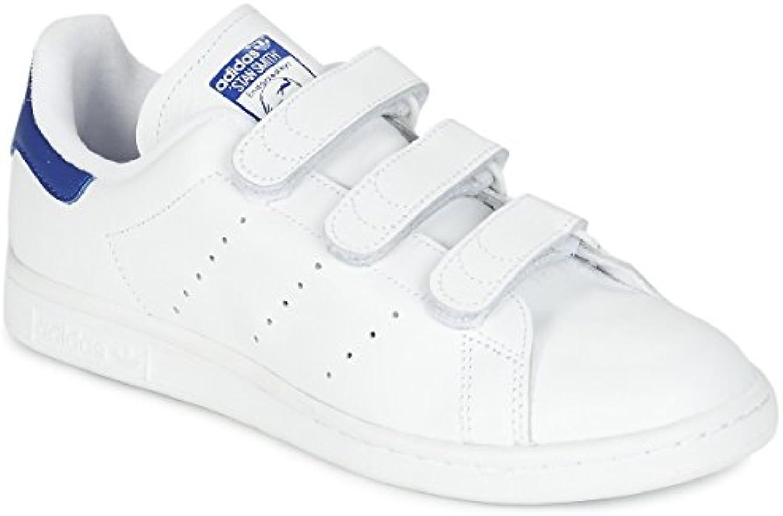 adidas Originals Mens Stan Smith CF Weiss/Blau Sneaker Low 42