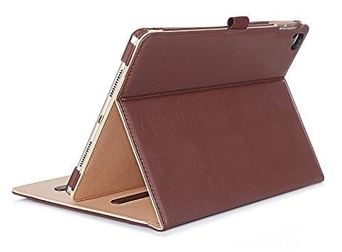 iPad Pro 9,7Étui–Procase Étui folio en cuir avec support pour Apple iPad Pro 24,6cm (iPad Pro Mini, iPad Air, iPad 3), avec multiples angles de visualisation, document poche pour carte