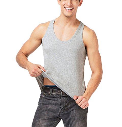 RENHONG Felpa Da Uomo In Cotone Felpa Gilet Da Uomo Estivo Tipo Slim Grey