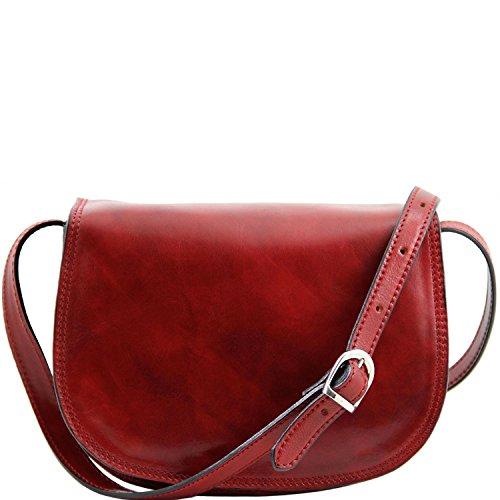 Tuscany Leather - Isabella - Sac bandoulière en cuir Noir - TL9031/2 Rouge