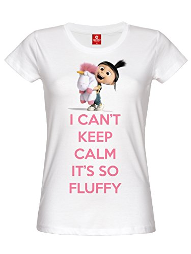 Minions I Can't Keep Calm It's So Fluffy Maglia donna bianco XS
