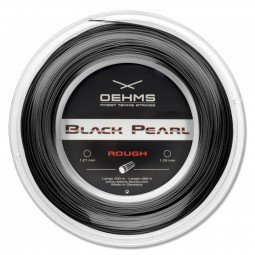 OEHMS Black Pearl Rough | 200m-Rolle | Ø 1,23 mm | monofile Co-Polyester Tennissaite