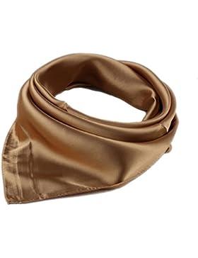 El pañuelo pequeño turbante en Blanco y Negro, Señora, 57x57cm, elegir el color.