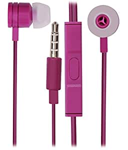3.5mm In Ear Bud Handsfree Headset EARPHONES with MIC for MICROMAX CANVAS MEGA E353-PURPLE