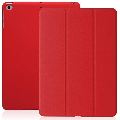 KHOMO iPad 9.7 Zoll Case Hülle 2018, 2017 Rotes Rot Gehäuse mit Doppeltem Schutz Ultra Dunn und Super Leicht Smart Cover Schutzhülle Nur für 2018 und 2017 Versionen Apple iPad 9.7 - Red