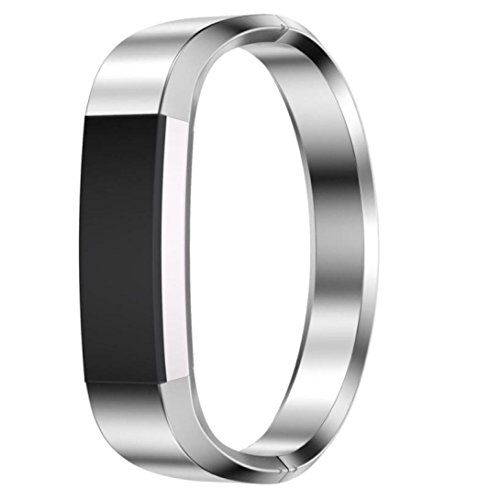 Fitbit Alta HR Armband, OverDose Edelstahl Uhrenarmband Armband für Fitbit Alta HR Smart Watch (Silber)