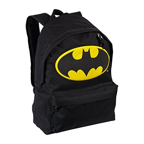 Karactermania Batman Batsignal Mochila tipo casual, 42 cm, 16 litros, Negro
