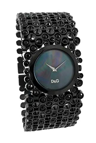 D&G Ladies Risky Quartz Watch DW0245 with Black Analogue Dial, Black Ip Case and Bracelet With