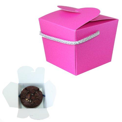 Cupcake/Muffin Box Perlglanzeffekt Fuchsia (10cm x 9,5cm x 8cm) Fuchsia Cupcake