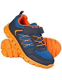 c398e62f96 Mountain Warehouse Lightweight Junior Trainers - Mesh Upper Sneakers, High  Traction Childrens Casual Shoes,