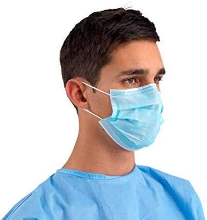 takestop® MASCHERINE Mascherina chirurgica chirurgiche Viso Set 50 Pezzi 3 Strati di FILTRAZIONE No Tessuto USA E Getta Medicina Medica Medico Pulizia MONOUSO