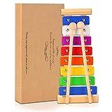 Xilofono per Bambini Kids Strumenti Musicali Percussioni Educativo Musical Giocattolo in legno per bambino delle ragazze dei ragazzi