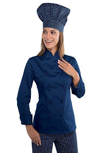 Isacco - Veste cuisine Lady Grand chef bleue Bleu