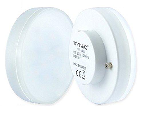 V-TAC LED bombilla GX53-7W/550lm/45W, recambio incandescente