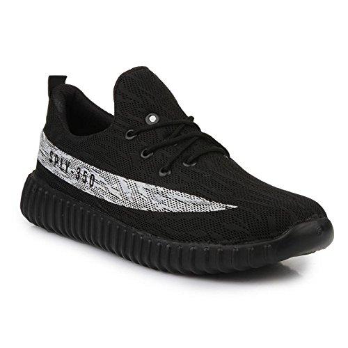 D-SNEAKERZ Men's Black Synthetic Leather Shoes - 8
